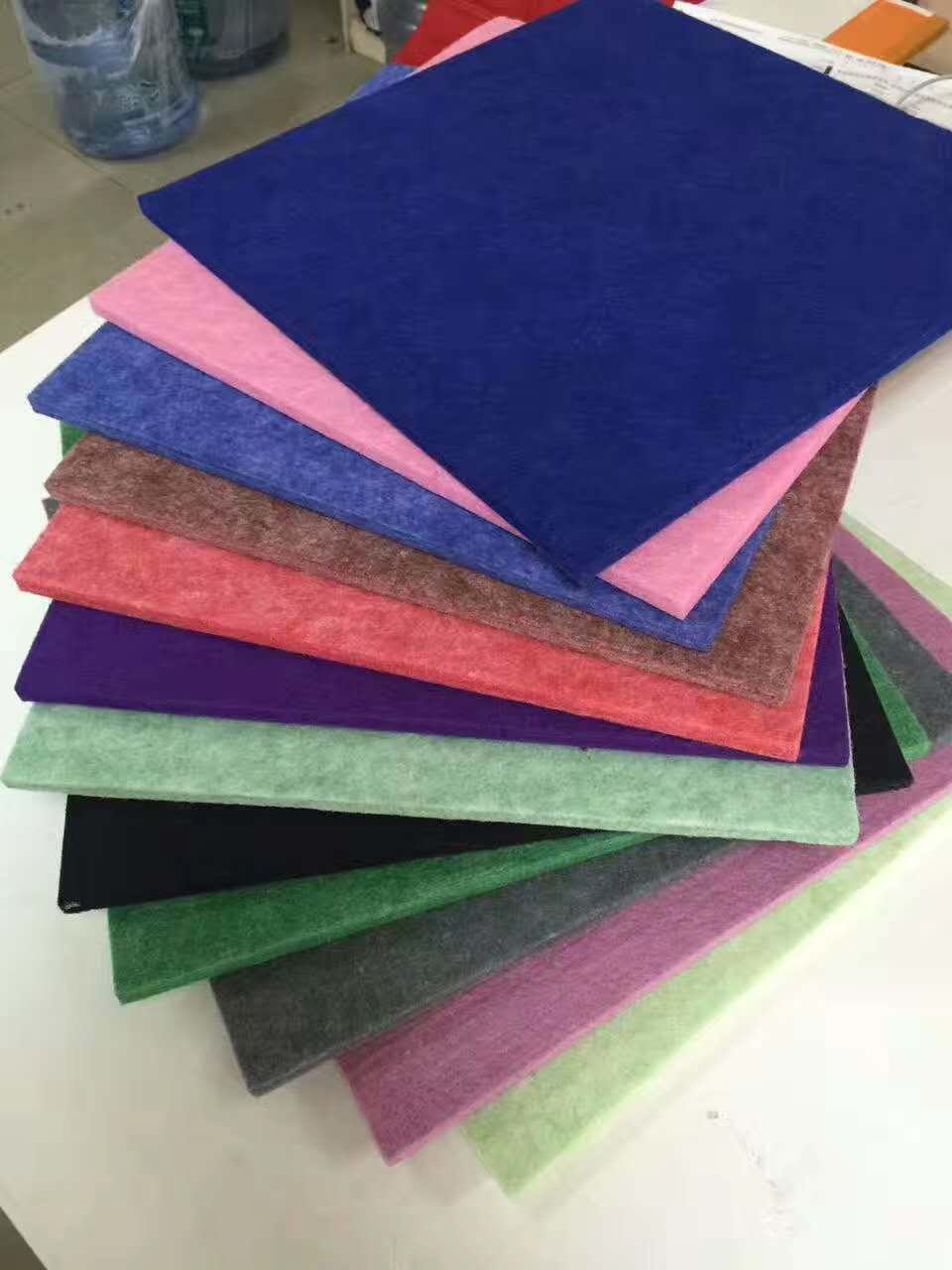 4.2kg Polyester Fiber Sound Acoustic Panel / Soundproof Panels For Walls